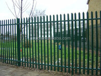 Good quality low price PVC coated europe palisade style fence