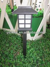 Solar outdoor garden lights / led lamp plastic square pyramid Park