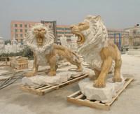 Garden decoration lion statue travertine lion statue