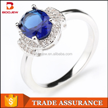 china hand made jewelry blue stone ring 925 silver ring designs for girl