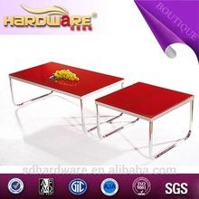 moderno pequeños cuadrados de vidrio mesa de té para mobiliariodesala