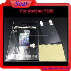 Factory price for mobile phone screen protector, for Huawei Ascend Y220 clear screen protector flim guard