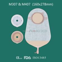 Aoki dos sistema de ostomía, bolsa de urostomía, pieza 2 cerrado- final del sistema de bolsa de ostomía