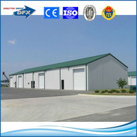 flat roof h beam and column prefabricated light steel structure building and shed