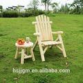 100% macizo rústico al aire libre silla de madera