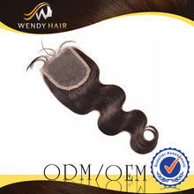 Body Wave Free Part Lace Closure High Quality Human Hair Material