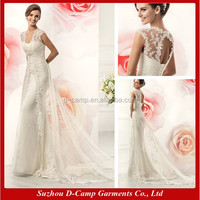 WD-1484 Keyhole back sheath skirt Illusion tulle overlay julie vino wedding dresses new models cheap lace wedding dresses israel