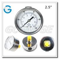 High quality stainless steel brass internal bourdon tube manometer