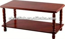 TOP SELLING!! Classic Design tempered glass+high glossy mdf coffee table