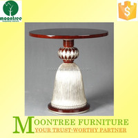 Moontree MCT-1129 antique hand carved chinese wooden round coffee table