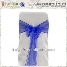 Colorful Printed Ruffle organza chair cover wedding &Banquet Chair Sashes