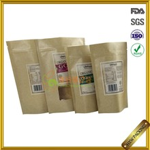 UK market tea packing kraft paper bag with clear window