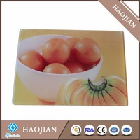 high quality tempered glass cutting board/ sublimation unbreakable glass cutting board