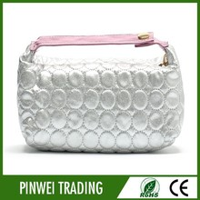 bling pu hand cosmetic bag,organic cotton cosmetic bag