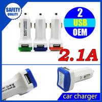 Mobile phone accessories wholesale universal dual port mini car charger usb
