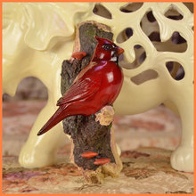 Rich red auspicious birds resin ornaments fashion creative gifts Hot new museum home