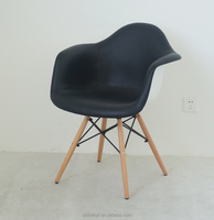 Upholstered PU Leather plastic dining armchair PP-125E