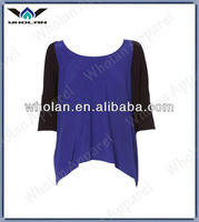 Hot sale fashion loose casual short sleeve blouses for women