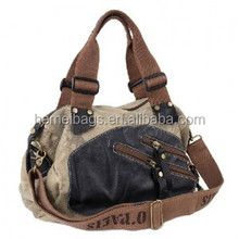 Canvas handbag and tote, canvas shoulder bag