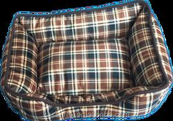 square peluche velvet print pet house dog bed dog house