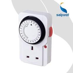 SAIP/SAIPWELL UK Plug 24 Hours 250V 13A Mini Timer Switch, Mechanical Timer