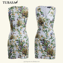 2015 Wholesale Middle age women dress, Floral wrap dress, alibaba women clothing