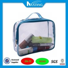 2015 top quality clear vinyl cosmetic bag/pouch
