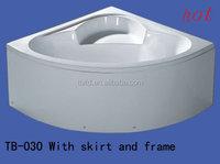supplier sell cast iron enamel corner bathtub/manufacturer sell cast-iron bath