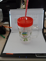 2015 high quality bpa free drinking mason jar mug plastic