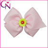 5 Inch Girls Hair Accessory Light Pink Hair Bows With Clips (CNHB-13121210)