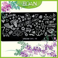 Dream Girl Cute Nail Art Stamp Plates Custom Nail Stamping Plates Templates
