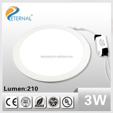 high quality surface mounted led panel light 3w with ce rohs europe market