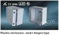 Lock+hinge type Plastic box/dustproof/waterproof