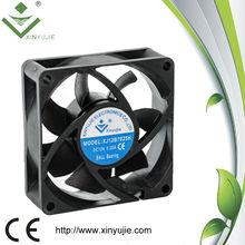 XJ12B7025H 12V dc fan sleeve bearing oil cooler ball bearing floor fan