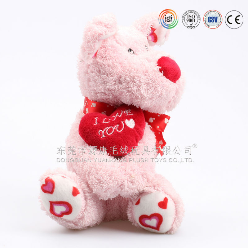 Valentine S For Dogs Toys : Icti audits oem factory valentine plush dog with heart