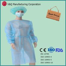 Latex free surgical disposable gown used for surgical medical exam