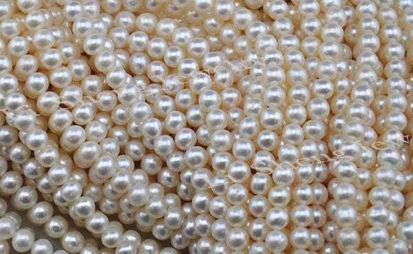 4 мм 5 мм 6 мм идеально круглый белый жемчуг прядь