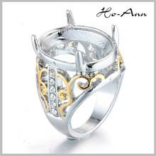 2015 Best Price Multi Colorful Titanium Silver 316L Stainless Steel Indonesia Men Titanium Rings For Gemstone