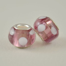 European Purple Murano Glass Beads 925 Sterling Silver Core Spacer Charms