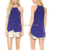 wholesale new design ladies lady blue blouses fashion 2014