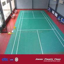 muti-purpose indoor sport plastic floor for badminton