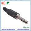 Solder Type Plastic Strain Relief 1 / 4 inch stereo male plug 6.35mm headphone jack