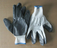 13gauge CE certificate working protection nitrile coated polyester glove