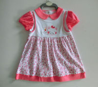 New style baby clothes 100% cotton confortable 0 3 months baby girl dresses