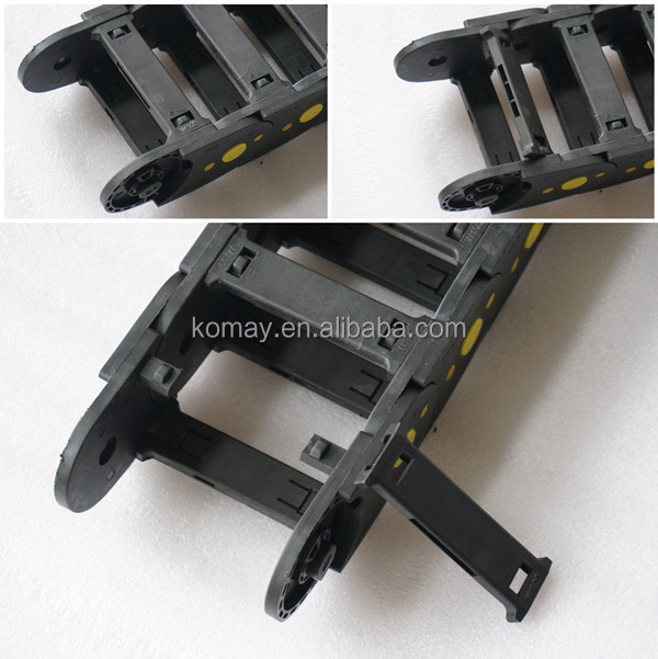 Flexible Cable Track : Komay k series flexible cable track electric
