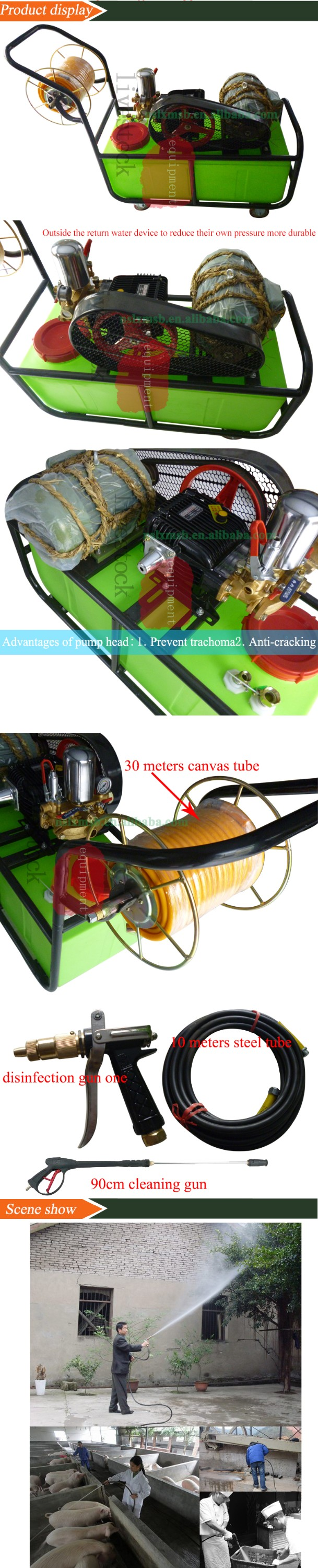 High Pressure Cleaning Disinfection Equipment For Poultry
