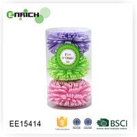 Multicolor EVA Bath Sponge In PVC Drum