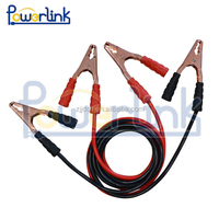 Heavy-Duty 10 Feet Long, 8 Gauge 300 AMP Heavy Duty Battery Booster Cable / Jumper Cable in Travel Bag and Safety Gloves