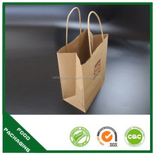 Branded hot sell brown take away fast food paper bag