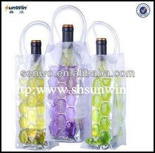 Ice Wine Bottle Cooler Bag Gel Carrier Vine Chiller Reusable Party Drinks Holder